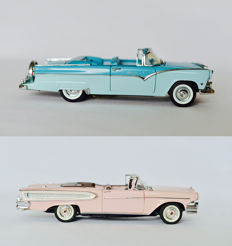 Franklin Mint - Scale 1/24 - 1958 Edsel Citation Convertible & 1955 Ford Fairlane Sunliner