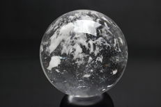 Perfect Russian Synthetic Quartz sphere - 14.74cm - 3.75kg