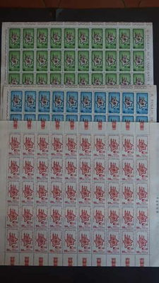 Republic of Italy, 1964/1967 4 complete years on sheets