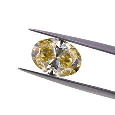 3.04 Ct. Natural Fancy Brown Yellow Oval Shape VS1 Diamond.