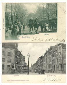 Collection of postcards of Amsterdam 84 x