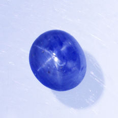Blue sapphire with Star – 3.21 ct – No Reserve Price