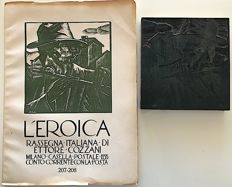 Aldo Mario Aroldi - Woodcut for L'Eroica and files no. 207 and 208
