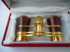 Theatre binoculars of brass and Chinese lacquer