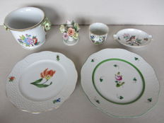 Herend porcelain - Six items with different decors.