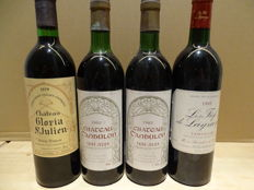 1979 Château Gloria Saint-Julien, 2x 1982 Château Candulon Saint-Julien, 1988 Les fiefs de Lagrange Saint-Julien - 4 bottles in total
