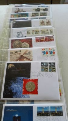 """Netherlands - various medals """"Coin letters with postage stamps"""" (42 pieces)"""