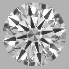 0.50ct  Round Brilliant  D VS2 3EX  GIA-#WI18-original image -10x