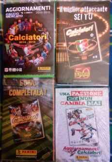 Panini - lot of four supplements of the Calciatori collections, Italian championship.