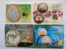Portugal - Four Coin Sets - 1991-1995-1996-1997