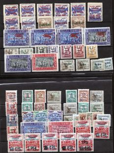 Spain 1937/1939 – Asturias and Canarias. Collection. Various postmarks.