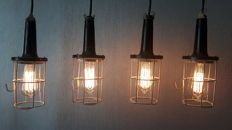 Four vintage Industrial Bakelite Lamps