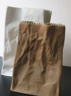 Two Paper Bag Vases by Tapio Wirkkala for Rosenthal