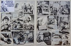 Lacey, Bill - 2x Original page (552-01 + 552-02) - Eagles over the Western Front - (1973)