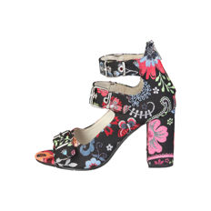 Sandals - Made in Italy - With buckles fantasy flowers and butterflies.