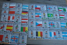 Variant of Panini - World Cup 1982 Spain - Complete set of country stickers large format.