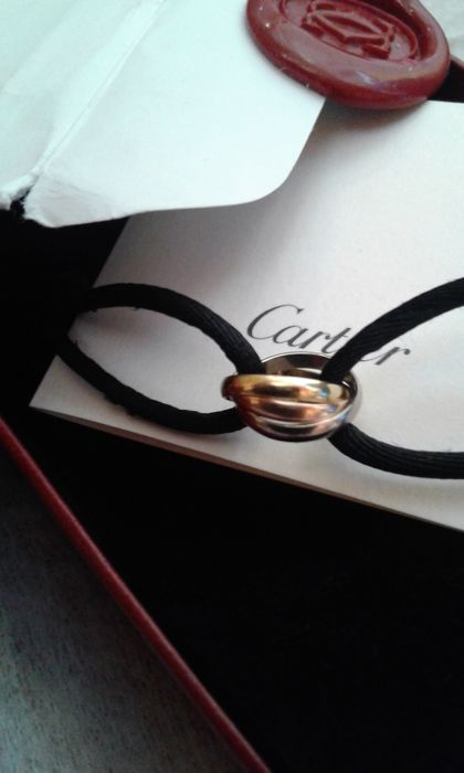 "Cartier – ""Trinity"" 18 kt yellow, white and rose gold bracelet"