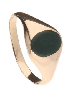 Ring - 14 kt Yellow gold - Jade - Ring size: 18.75
