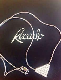 Recarlo - gold necklace and pendant with diamonds - chain length: 43 cm