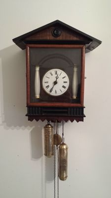 Antique Black Forest clock with weighted carillon - Circa 1880 Germany