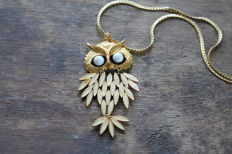 Trifari Owl Necklace