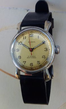 Elema - Swiss made - art déco watch for men - 1940s