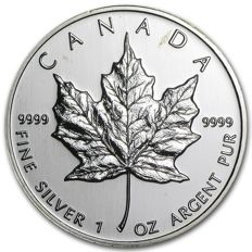 Canada - 5 CAD - Maple Leaf 1999 - 999 Silver - Old Vintage - Shrink-Wrapped