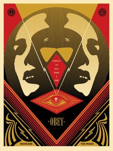 Shepard Fairey (OBEY) - I See Static (Red)