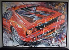 Ferrari 512 BB - very large painting Eric Jan Kremer - 204 cm x 144 cm