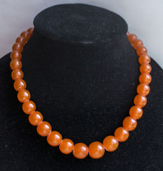 Baltic Amber necklace of butterscotch, caramel colour, 40 gram