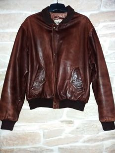 Chevignon leather pilot jacket, a rare model, made in France