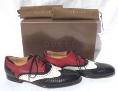 Gucci - Tri Colour Lizard Wingtip Derby Shoes