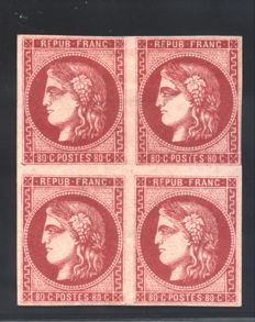 France, 1870 – Ceres, Bordeaux issue – Yvert & Tellier catalogue No. 49