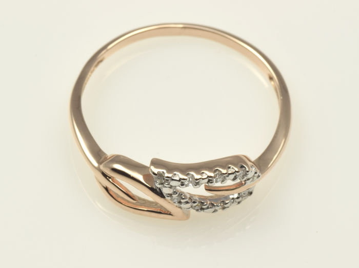 14 kt gold ring with diamonds no reserve price catawiki