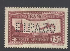 "France, 1930 – Air Mail carmine red ""Expo FIPA 30"" – with Raybaudi's certificate – Yvert & Tellier catalogue No. 6d"