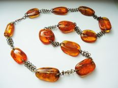 Natural old  antique  Baltic Amber necklace