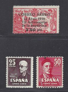 Spain 1938/1947 – various depictions – Edifil 756 + 1015/1016
