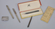 Elysee Germany silver writing set with JiF Paris and seperate pencil.