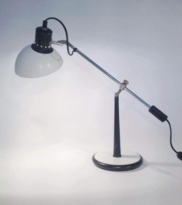 nf luminaires electricit france rare french desk or table lamp catawiki. Black Bedroom Furniture Sets. Home Design Ideas