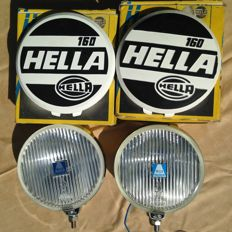 New set of Hella 160 Fog lights 1960s with covers; BMW, VW, Mercedes - circa 1975
