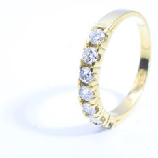 14 karat gold channel ring || 0.70 ct g - VS1/VS2 || ref: 1611LTT