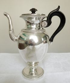 Sterling silver Empire coffee pot, French Restauration period