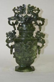 Hard stone vase - China - mid 20th century