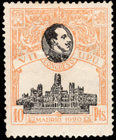 Spain 1920 – VII Congress UPU, 10 Pesetas – Edifil 309