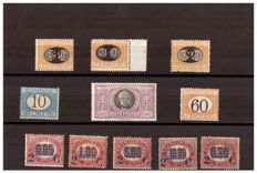 Kingdom of Italy - Lot of stamps for ordinary mail and services