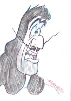 Z, Vendetta - Captain Hook II - Original Sketch (1990's)