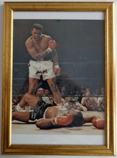 "Autograph Muhammad Ali - Muhammad Ali / Sonny Liston - ""Get up you wimp"" - COA from JSA."