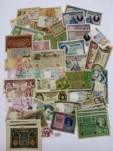 Europe - Lot of 50 varied banknotes from Europe from different periods