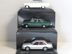 Minichamps - Scale 1/43 - Lot with 3 Opel models