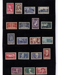 France - selection of 1930s issues - between Yv. 305/424 + PA5